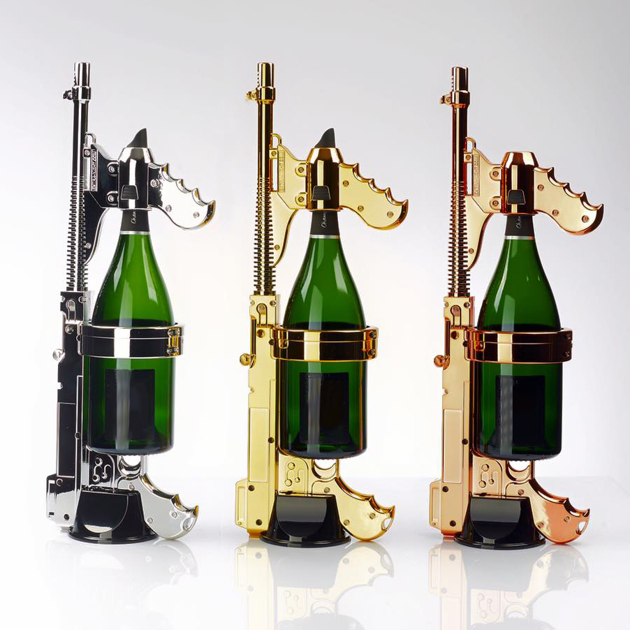 Champagne gun for Where can i buy belaire rose champagne
